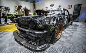 hoonigan mustang engine ken block u0027s 845 hp retro mustang u201choonicorn rtr u201d for ken block u0027s