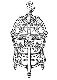 coloring page faberge egg
