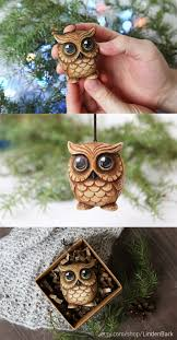 best 25 owl ornament ideas on pinecone owls