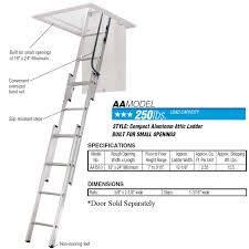 werner small opening attic ladder opening size 18 in by 24 in or