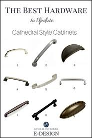 the best cabinet hardware pulls to update cathedral style oak or