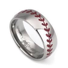 baseball wedding ring baseball laser craft titanium rings for men and women 8mm