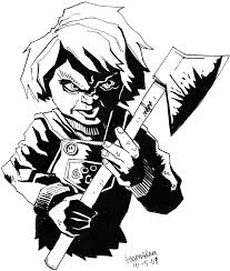 chucky coloring page 13 images of scary doll coloring pages voodoo doll coloring