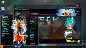 theme bureau windows dbs saiyan god theme by drix windows 7