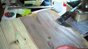 how to make new wood look old paint wash method 1 youtube