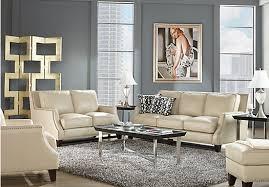 shop for a sofia vergara bal harbour 5 pc beige leather living