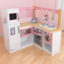 Pretend Kitchen Furniture Grand Gourmet Corner Play Kitchen