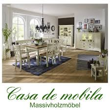 Esszimmer Komplett Antik Massivholz Esszimmer 7 Teilig Nordic Home Paris Kiefer Massiv Weiß