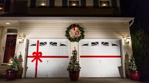 Christmas Decoration For Garage Door by The Elegant 7 U2032 H X 8 U2032 W Double Garage Bow