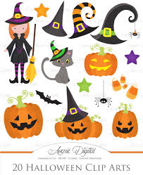 halloween clipart pack illustrations creative market