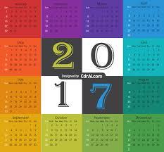 free downloadable calendar template free 2017 calendar template vector free cdrai