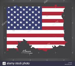 County Map Of Alabama Elmore County Map Of Alabama Usa With American National Flag Stock
