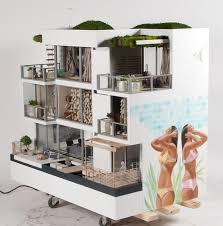 Modern Doll House Furniture by 92 Best Dollhouse Modern Interiors Images On Pinterest Modern