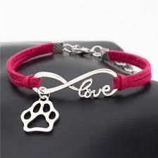 bracelet infinity love images Leather bracelet infinite love paw charms pendant bengal cats jpg