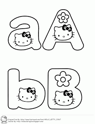 learning abc with hello kitty fantasy coloring pages clip art