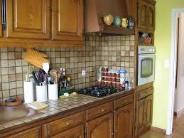 comment repeindre un plan de travail de cuisine photo decoration déco cuisine rustique plus marron mur meuble de