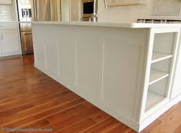 wainscoting kitchen island custom wainscot panel finishes the back of a kitchen island