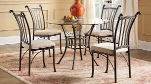 circle dining room table hoyt 45 in metal 5 pc round dining set dining room sets metal