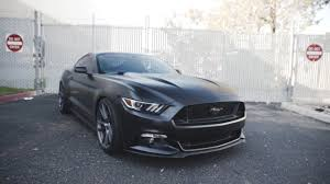 Satin Black Mustang Insane Satin Black Mustang With The Latest Hre Wheels Youtube