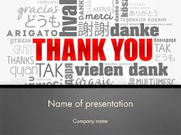 powerpoint presentation templates for thank you thank you word cloud in different languages powerpoint template