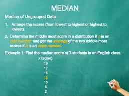 mean median mode measures of central tendency