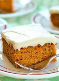 sugar free spiced carrot cake with orange cream cheese frosting