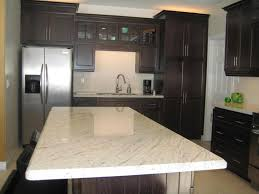 granite kitchen wooden kitchen island with grey quartz