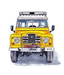 land rover discovery drawing land rover series iii ink and watercolour illustration defenders