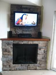 Corner Electric Fireplace Corner Fireplace With Tv Above Google Search Cabin Pinterest