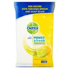 dettol floor cleaning wipes lemon 15 per pack from ocado
