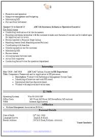 resume format for mis executive resume ideas