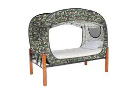 privacy pop tent bed camo protective ventilate privacy pop up bed tent twin queen black