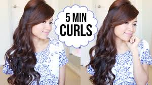 how to curl your hair fast with a wand hairstyle how to curl your hair with curling iron youtube easy
