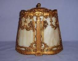 slag glass lamp shade foter