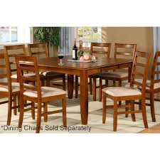 parawood furniture parfait saddle brown square dining table with