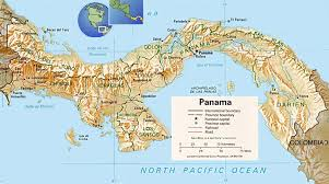 south america map belize map of panama large