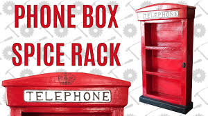 old english phone box spice rack from a single 2x4 summers