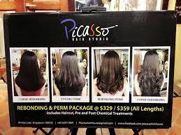 review volume rebonding at picasso hair salon haji lane