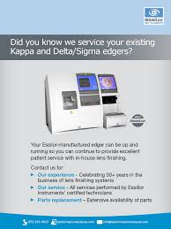 did you know we service kappa and delta sigma edgers essilor