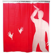 95 Inch Shower Curtain Amazon Com Kikkerland Psycho Shower Curtain 72 Inch By 72 Inch
