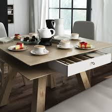 4you dining table with hidden container in oak effect dining tables