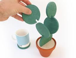 cool things for kitchen cacti coasters