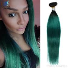 18 Remy Human Hair Extensions by Cheap Two Tone T 1b Dark Green Ombre Remy Human Hair Bundles 12 14