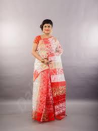 dhakai jamdani saree gold white dhakai jamdani sarees dailybuyys