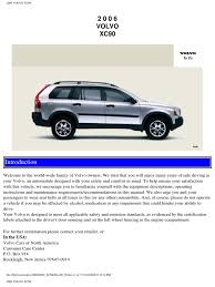 volvo xc90 2006 user manual airbag seat belt