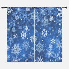 Snowflake Curtains Christmas Snowflake Window Curtains U0026 Drapes Snowflake Curtains For Any