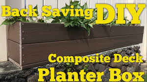 how to make a planter box with trex composite decking diy youtube