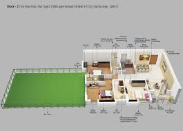 3 bhk apartment floor plan 3 bhk 1906 sq ft apartment for sale in merlin 5th avenue at rs