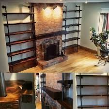 Steel Pipe Shelving by How To Make A Freestanding Industrial Pipe Bookcase Pipes