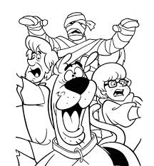 scooby doo cartoon coloring pages halloween hallowen
